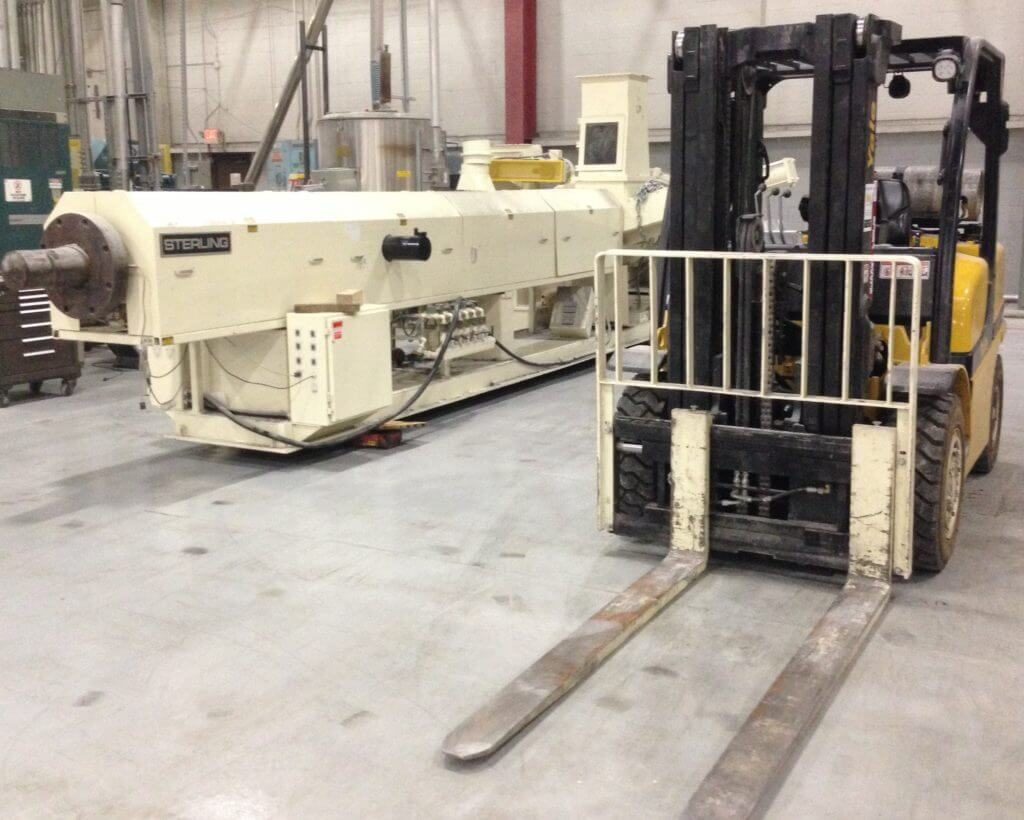 wood machinery relocation project